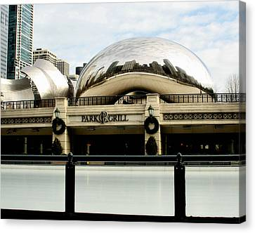 Cloud Gate - 2 Canvas Print by Ely Arsha