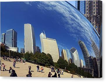 Cloud Gate Millenium Park Chicago Canvas Print by Christine Till