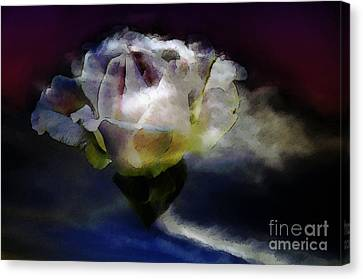 Canvas Print featuring the photograph Cloud Rose Painterly by Clayton Bruster