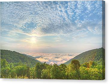 Mountains Canvas Print - Cloud Sea by Metro DC Photography