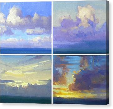 Cloud Studies Canvas Print by Richard Robinson