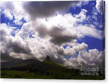 Clouded Hills At Nasik India Canvas Print by Sumit Mehndiratta