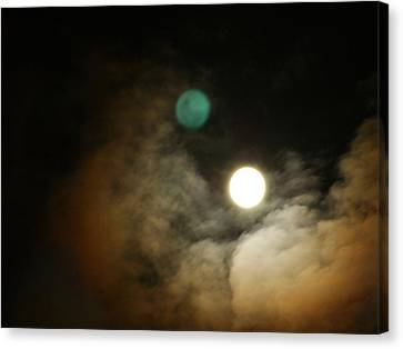 Clouded Moon Canvas Print by Steve Sperry