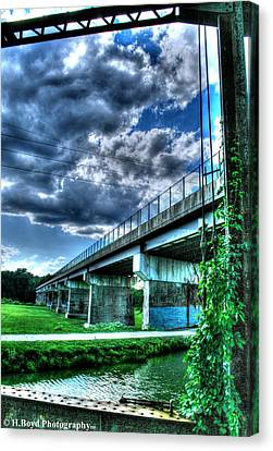 Clouds And Ivy Canvas Print by Heather  Boyd