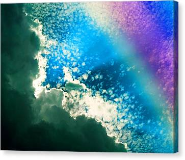 Clouds And Rainbow Colors Canvas Print