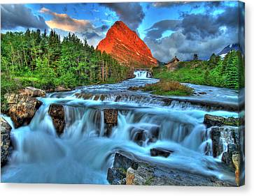 Clouds And Waterfalls Canvas Print by Scott Mahon