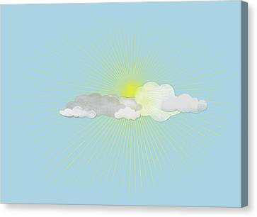 Clouds In Front Of The Sun Canvas Print by Jutta Kuss