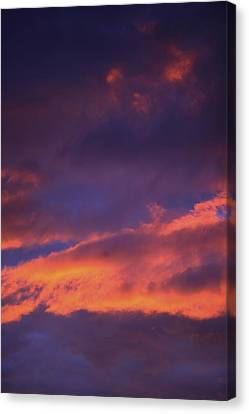 Clouds In Sky With Pink Glow Canvas Print by Richard Wear
