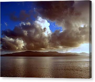 Canvas Print featuring the photograph Clouds by Irina Hays