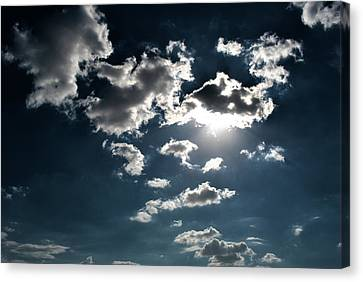 Clouds On A Sunny Day Canvas Print by Sumit Mehndiratta