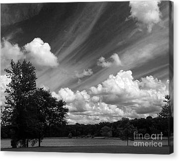 Clouds Over The Lake 1 Canvas Print