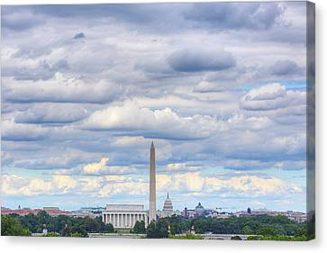 Clouds Over Washington Dc Canvas Print