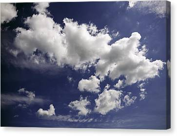 Canvas Print featuring the photograph Clouds by Paul Plaine