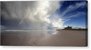 Clouds Reflected In The Shallow Water Canvas Print by John Short