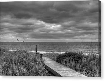 Cloudy Day In Paradise Canvas Print by David Paul Murray