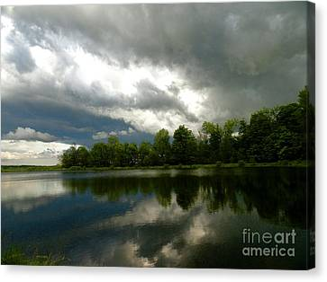 cloudy with a Chance of Paint 4 Canvas Print by Trish Hale