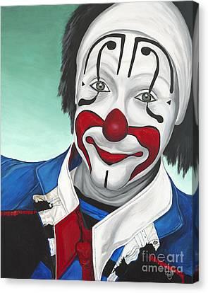 Clown - Billy Ballantine  Canvas Print by Patty Vicknair