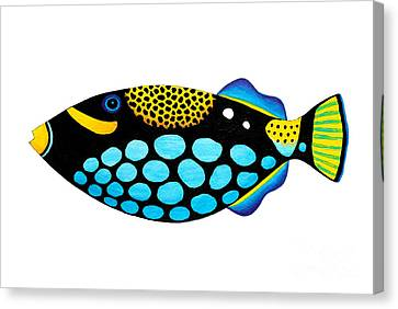 Clown Triggerfish  Canvas Print by Opas Chotiphantawanon