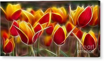Cluisiana Tulips Fractal Canvas Print by Peter Piatt