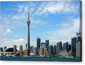 Cn Tower Canvas Print by Jeff Ross