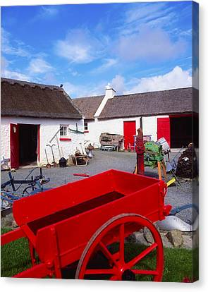 Co Donegal, Ireland Cottage Near Canvas Print by The Irish Image Collection