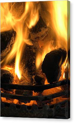 Coal Fire Canvas Print by Duncan Shaw