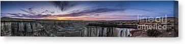 Coalmine Canyon Panoramic Sunset Canvas Print by Darcy Michaelchuk
