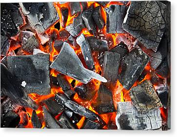Coals In The Fire Canvas Print by Mongkol Chakritthakool