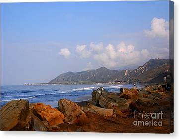 Coast Line California Canvas Print by Susanne Van Hulst