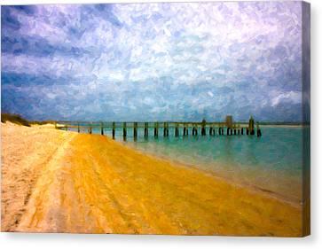 Coastal Dreamland Canvas Print by Betsy Knapp