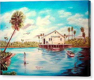 Coastal Glades Canvas Print by Riley Geddings