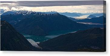 Coastal Range Fjords Canvas Print by Mike Reid