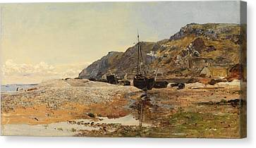 Coastal Scene Canvas Print by Henry Moore
