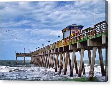 Canvas Print featuring the photograph Coastal Waves by Gina Cormier