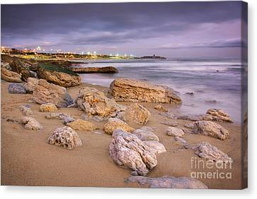 Coastline At Twilight Canvas Print by Carlos Caetano