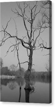 Coate Water Canvas Print by Michael Standen Smith