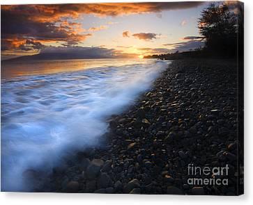 Cobblestone Sunset Canvas Print by Mike  Dawson