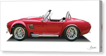 Cobra Side Canvas Print by Alain Jamar