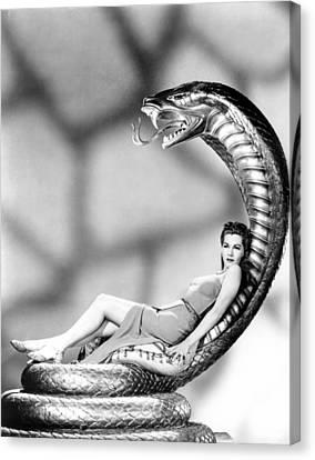 Publicity Shot Canvas Print - Cobra Woman, Maria Montez, 1944 by Everett