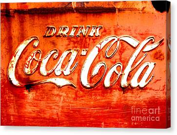 Canvas Print featuring the photograph Coca Cola by Amy Sorrell
