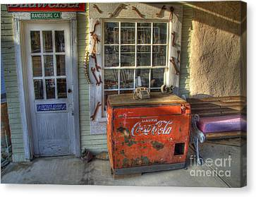 Coca Cola Cooler Randsburg Canvas Print by Bob Christopher