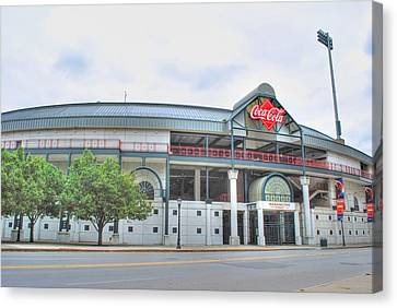 Canvas Print featuring the photograph Coca Cola Field  by Michael Frank Jr