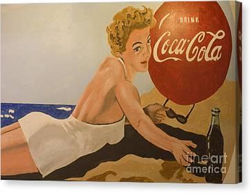 Coca Cola  Vintage Sign Canvas Print by Bob Christopher