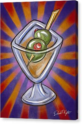 Cocktail With Olives  Canvas Print by David Kyte