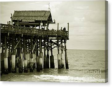 Vacation Canvas Print - Cocoa Beach Fl II by Susanne Van Hulst