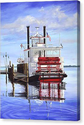 Cocoa Belle At Dock Canvas Print by AnnaJo Vahle