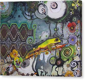 Jay Taylor Canvas Print - Cocoi Libre by Jay Taylor