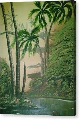 Coconut Grove Canvas Print by Jim Saltis