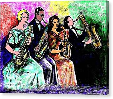 Coed Sax Section Canvas Print