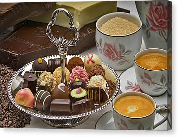 Coffee And Chocolates Canvas Print by Frank Lee